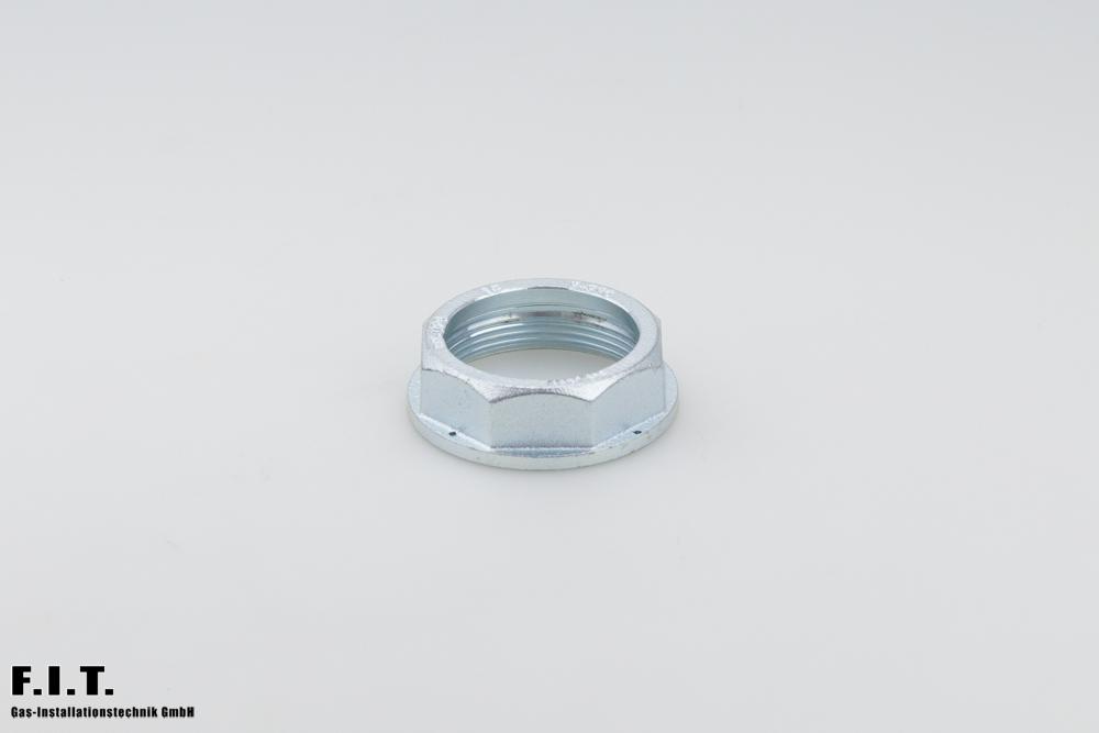 Überwurfmutter nach DIN 3376 Teil 2 für Einstutzenanschluss Form A