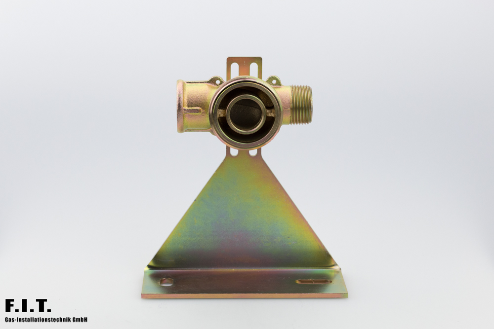 Gaszähleranschlussstück mit Montageplatte