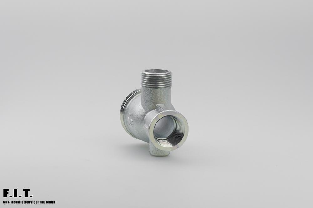 Gaszähler-Eckanschlussstück DN25
