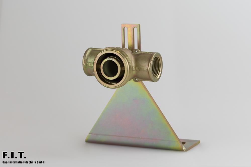 3 001 25 00 SYN G - Regleranschlussstück beidseits Innengewinde mit Montageplatte