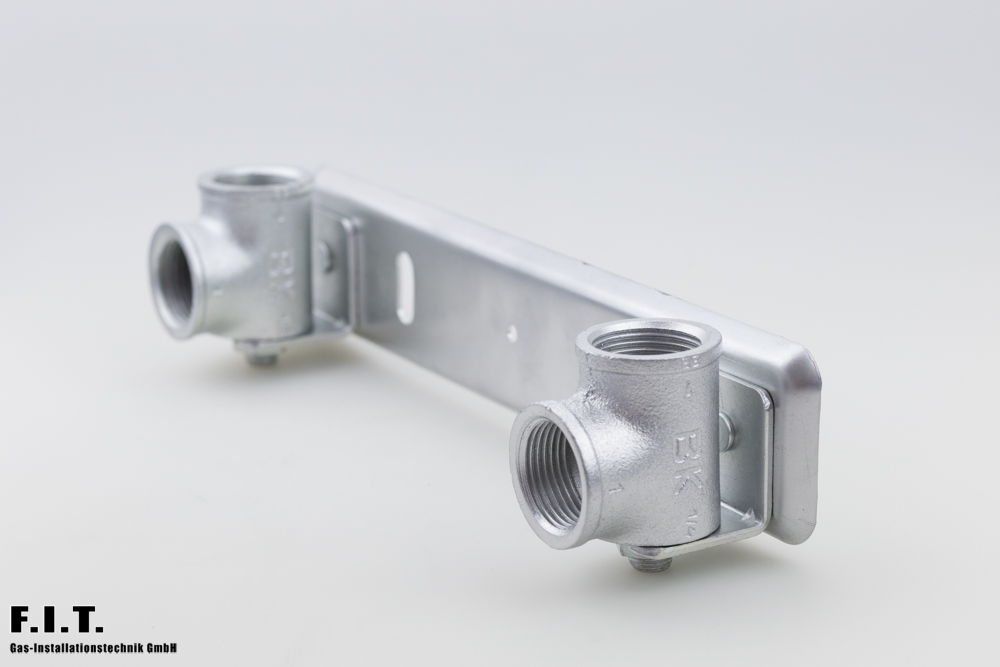 Gaszähler-Anschlussplatte